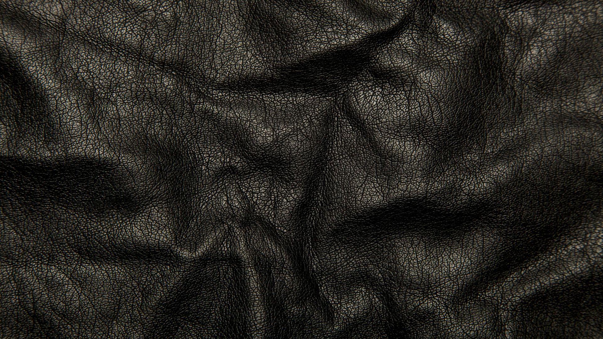 Leather Black Background Texture Wrinkles Cracks 75771 1920x1080