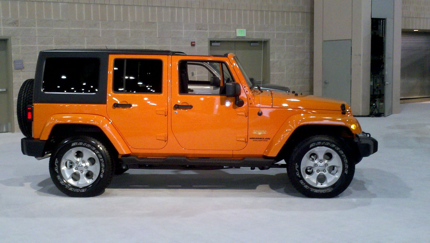 Orange 2013 Jeep Wrangler 4 Door Mom Ride Pinterest 2013  # Muebles Rubicon