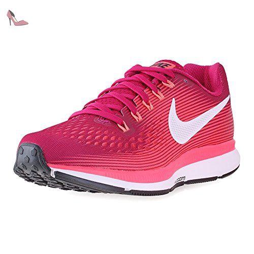 Nike Wmns Air Zoom Pegasus 34, Chaussures de Course Femme, Rouge (Sport  Fuchsia