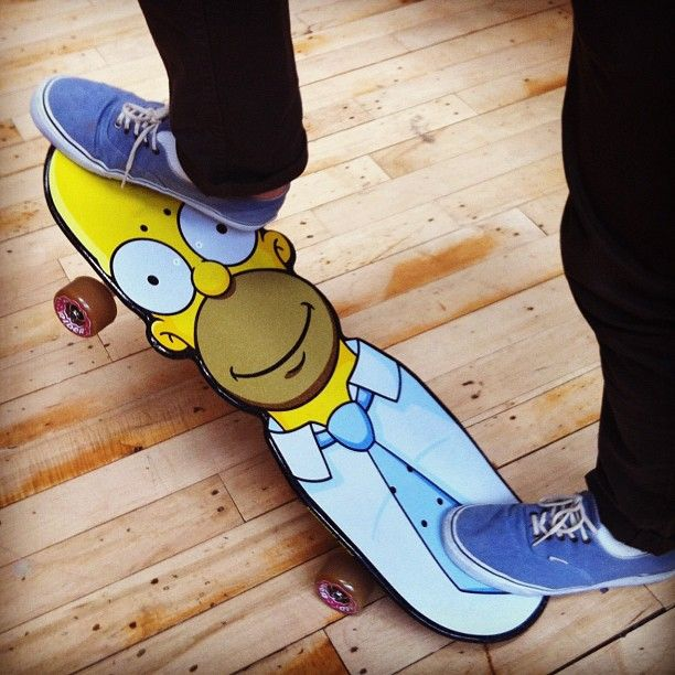 Skate or doh! #skateboards #simpsons #urbanoutfitters