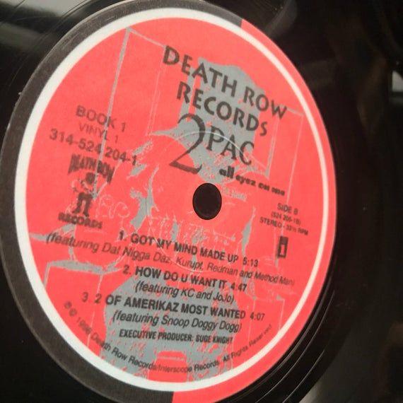Record Bowl - Classic Hip Hop 12 Vinyl - Vintage 90's Hip Hop Vinyl Collectible - 2Pac All Eyez On Me 12 LP #pictureplacemeant