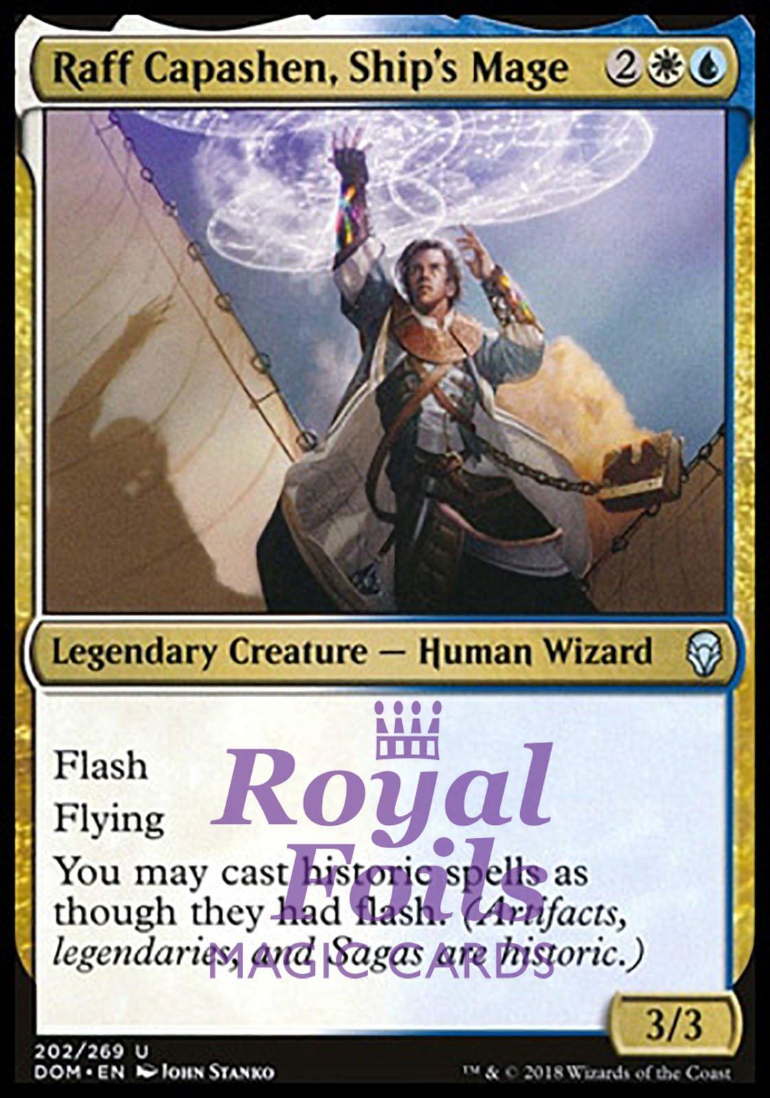 1x FOIL Raff Capashen Ship/'s Mage Near Mint Magic legendary wizard Dominaria x1