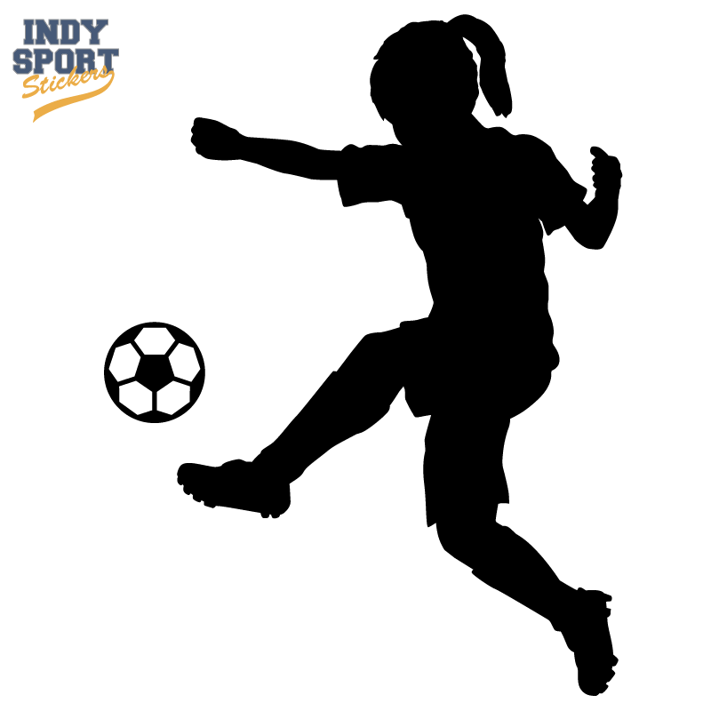 Soccer Player Girl Silhouette Kicking Ball Decal Or Sticker For - Soccer custom vinyl decals for car windows