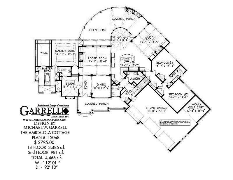 Amicalola Cottage House Plan 12068, 1st Floor Plan, Rustic House ...
