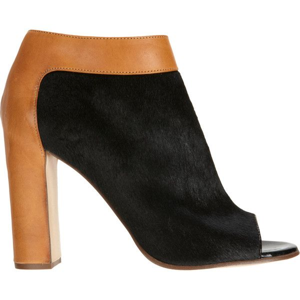 Chloé Ponyhair Peep-Toe Booties buy cheap under $60 cheap sale order low price online cheap pre order G9bsV