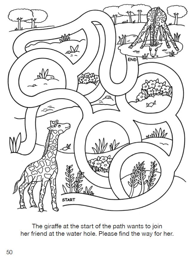 Welcome To Dover Publications Zoo Activities Mazes For Kids Coloring Games For Kids