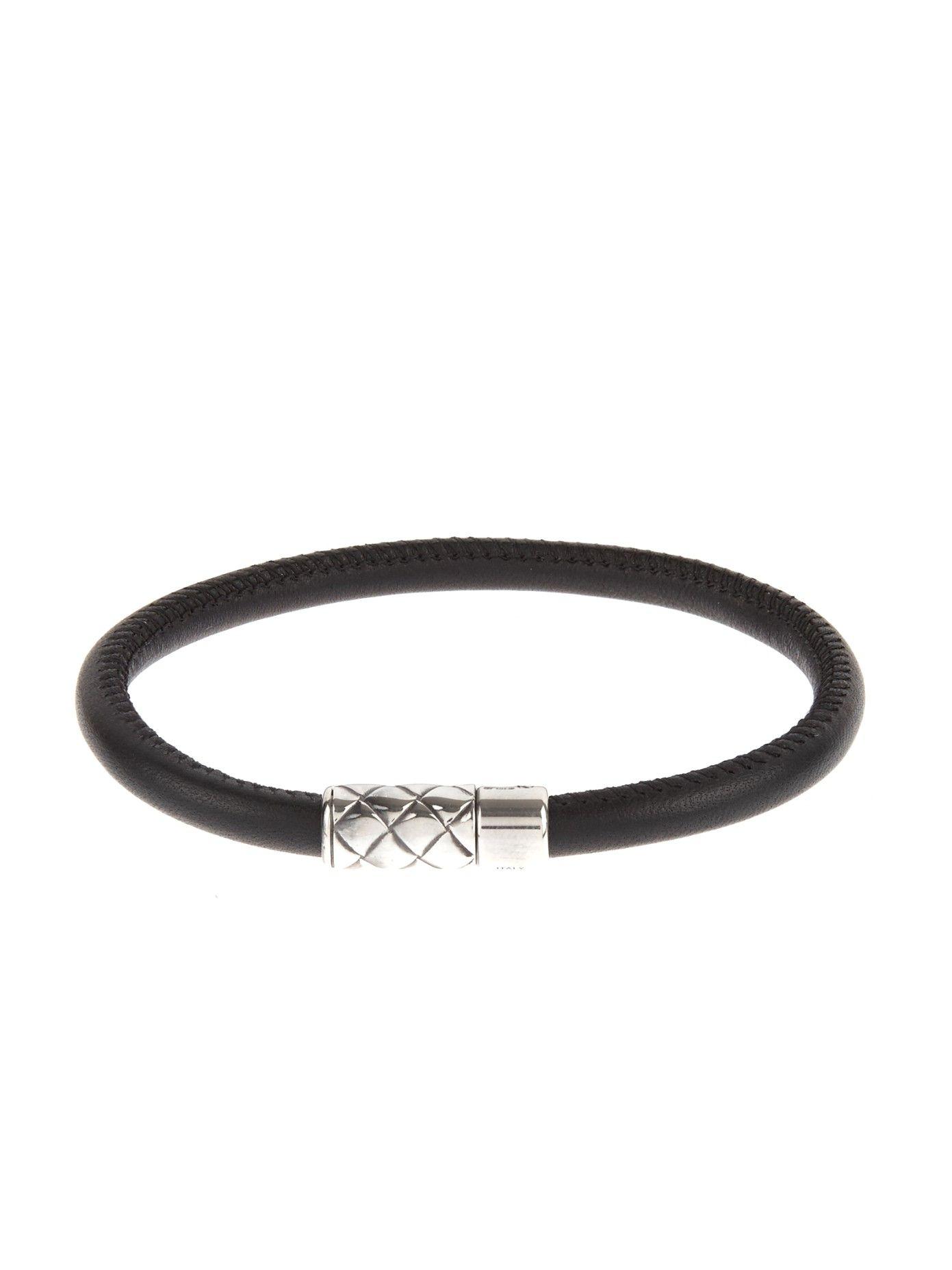 Magnetic leather bracelet by bottega veneta shop now at