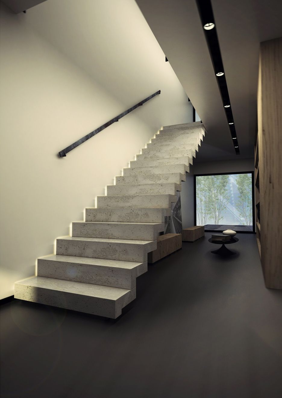 Escalier konkret krt001 lighting escalier beton beton - Escalier contemporain beton ...
