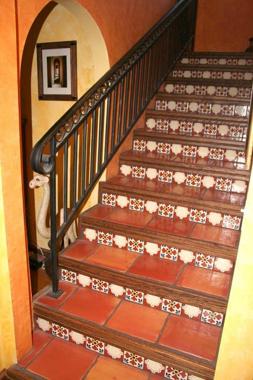 Mexican Stairs - Mexican sinks, tiles and copper sinks ...