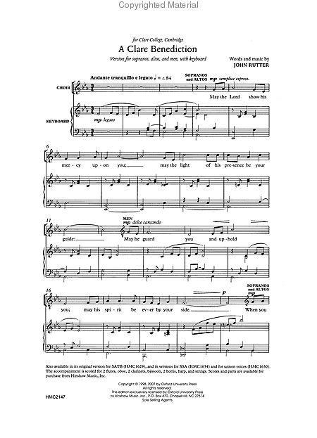Lyrics A Clare Benediction - musiXmatch