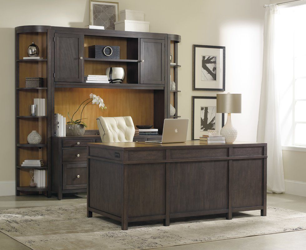 South Park Solid Wood Executive Desk Cheap Office Furniture Home Office Decor Gray Home Offices