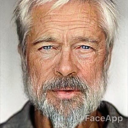 Pin by Samm on Celebrity old face app Brad pitt, Old