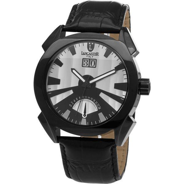 Lancaster Men's Black Leather Watch