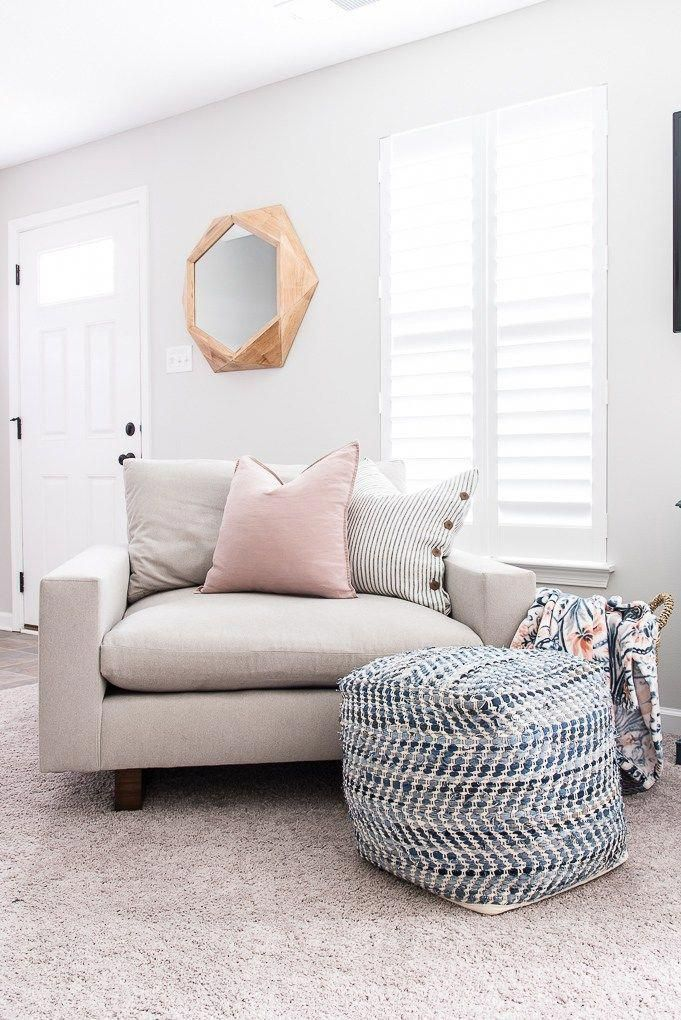 homedecor on a budget #homedecor If you are looking for the most comfortable oversized chair, you will love the Harmony chair from West Elm. This chair has a modern, clean design and is super comfortable. home decor on a budget    cheap home decor    modern home #homedecor #decorate #decoratingideas #BohemianDecor