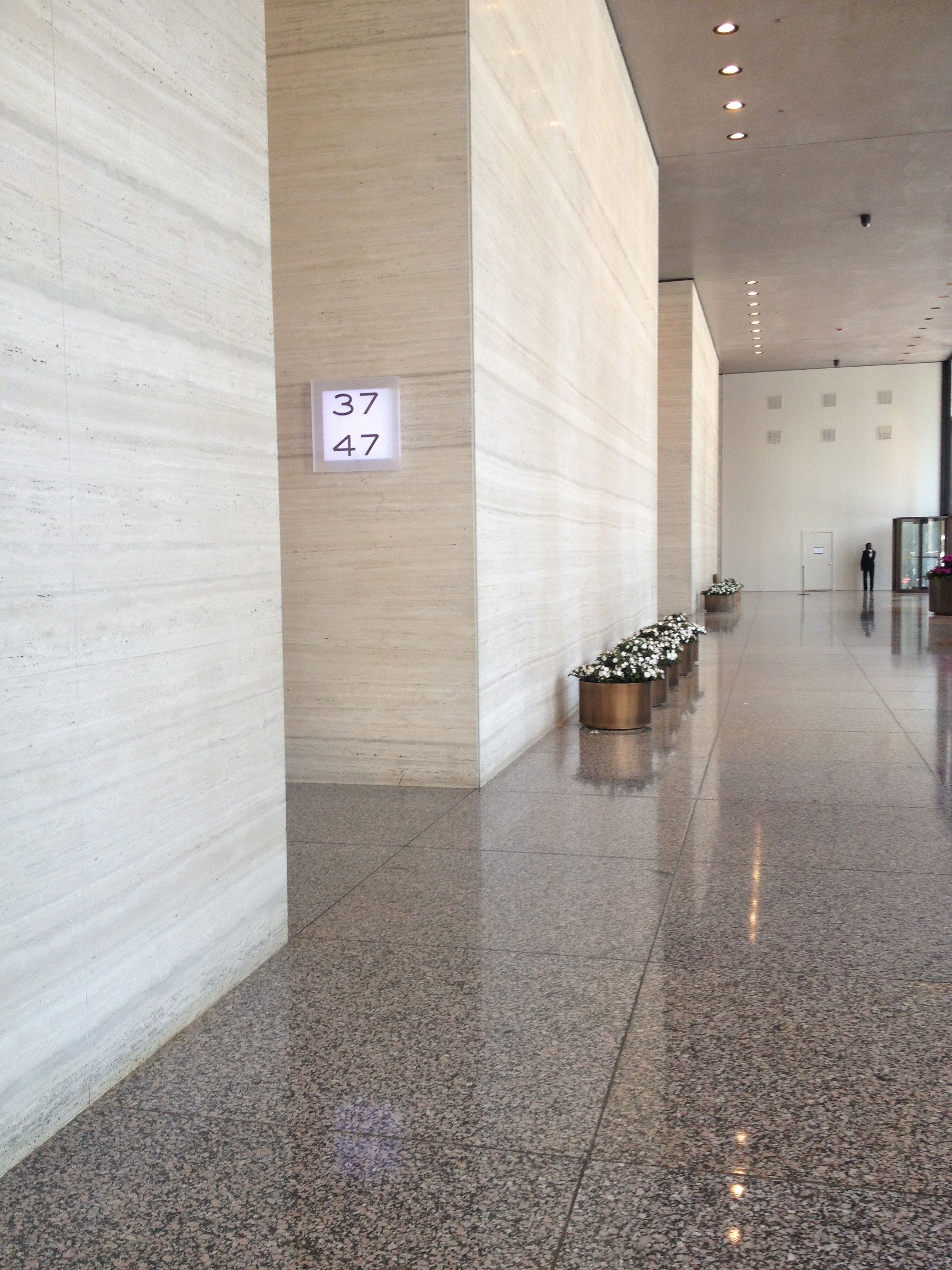 Office Lobby Mies Van Der Rohe S 330 N Wabash Chicago Office