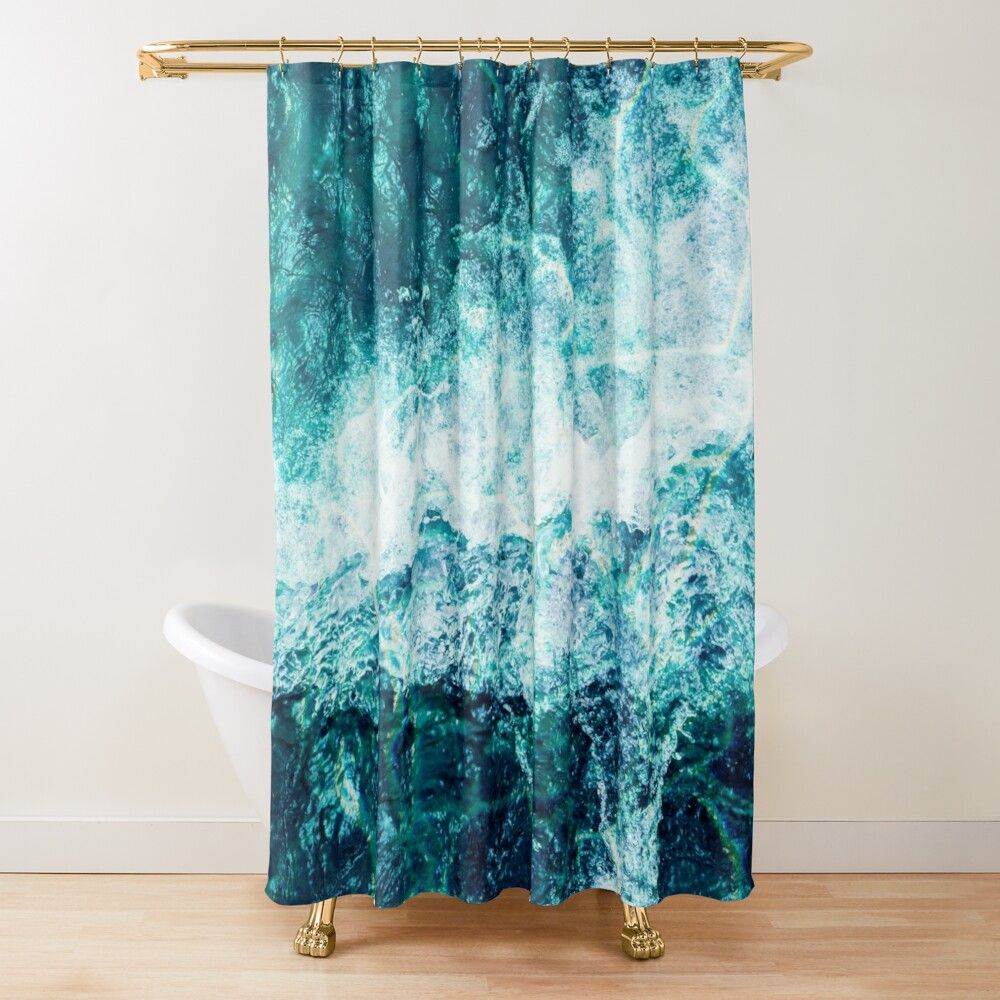 Ocean Shower Curtain By Andrii In 2020 Ocean Shower Curtain