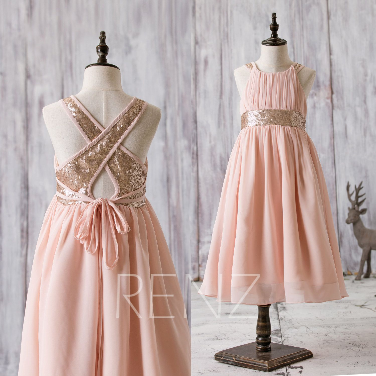 Junior bridesmaid dress peach rose gold sequin flower girls dress junior bridesmaid dress peach rose gold sequin flower girls ombrellifo Choice Image