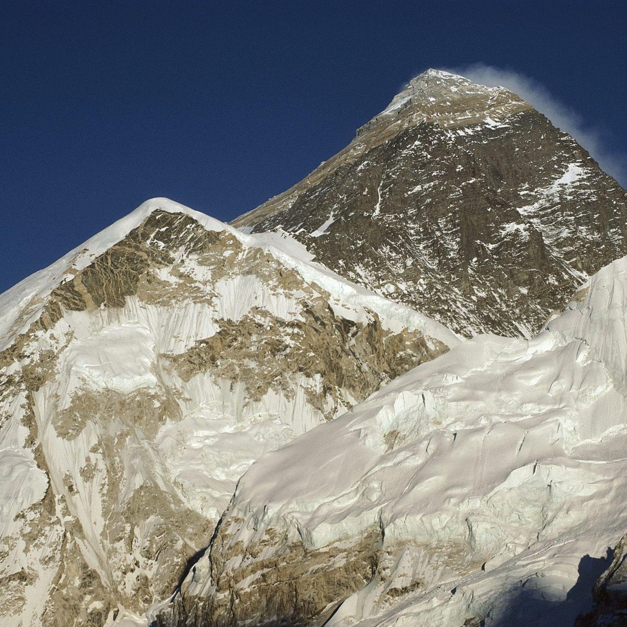 2048x2048 Papel de Parede montanhas, altura, neve, nuvem