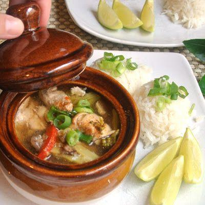 Thai Ginger Lime Lemon Grass Claypot Chicken #recipe #glutenfree
