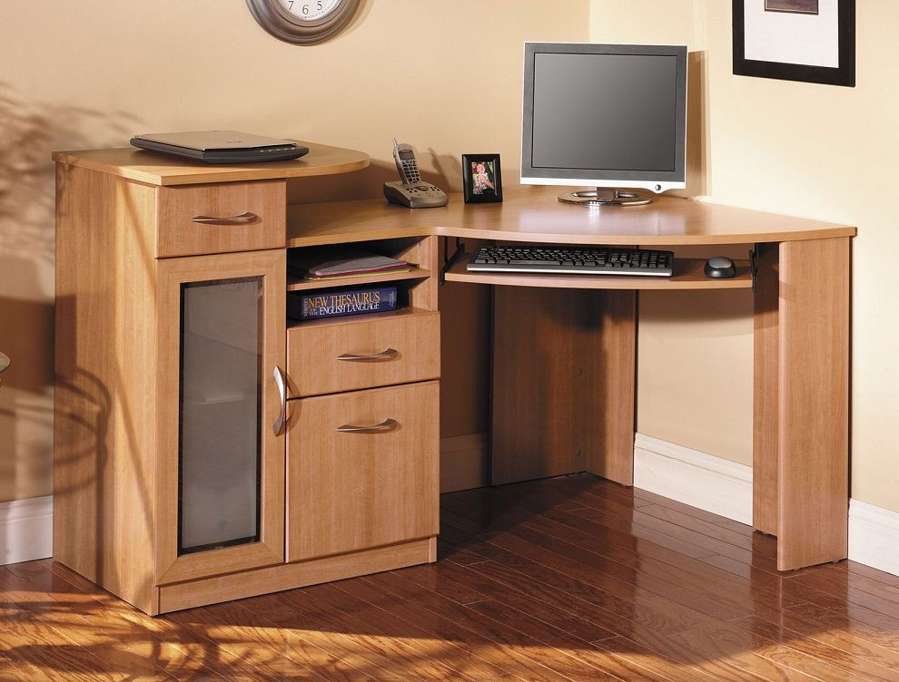 Bush Corner Desk Romantic And Functional At Same Time Home
