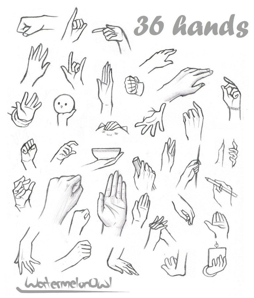 36 Hands By Watermelonowl Deviantart Com On Deviantart Anime Hands Drawing Anime Hands Hand Drawing Reference