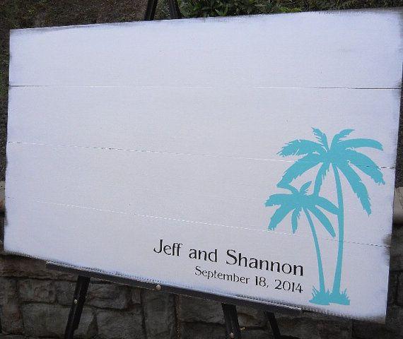 Rustic Wood Guest Book Alternative 3 FEET WIDE Custom Personalized Beach Wedding Sign Pallet Guest Book