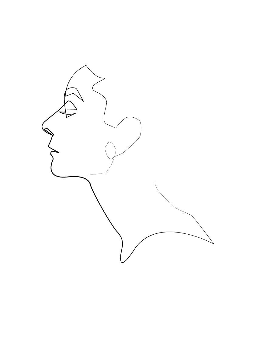 One Line Audrey Hepburn Single Line Drawing Person Drawing