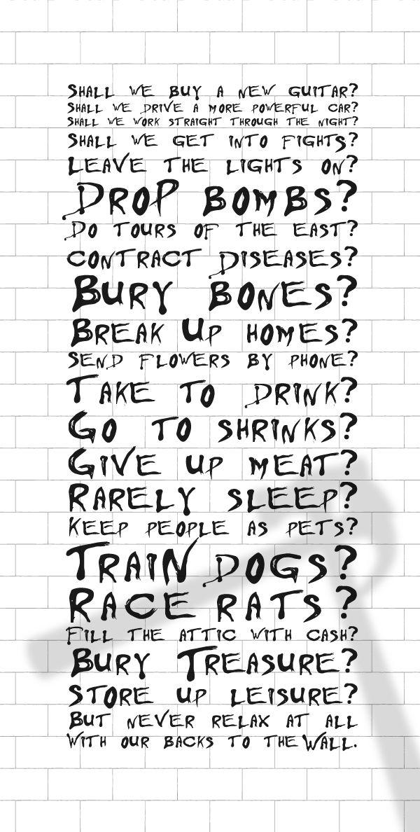 Pin By Angie Ward On Pink Floyd Pink Floyd Lyrics