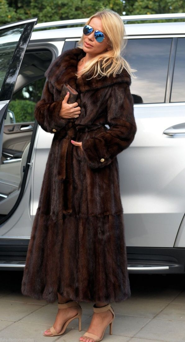 mink furs - long black royal saga mink fur coat | Mink | Pinterest