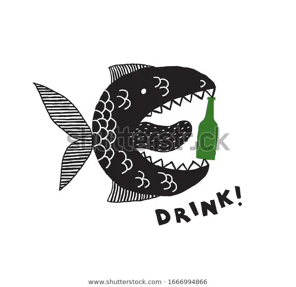 Fictional Monster Fish Open Mouth Tongue Stock Vector Royalty Free 1666994866 Monster Fishing Royalty Free Stock Vector