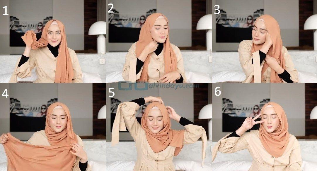 Tutorial Hijab Pashmina Simple Untuk Remaja Kuliah Dengan Gambar