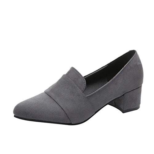 11d069a5f56a9 DENER Women Ladies Girls Flat Shoes Mules,Suede Low Heel Pointed Toe ...
