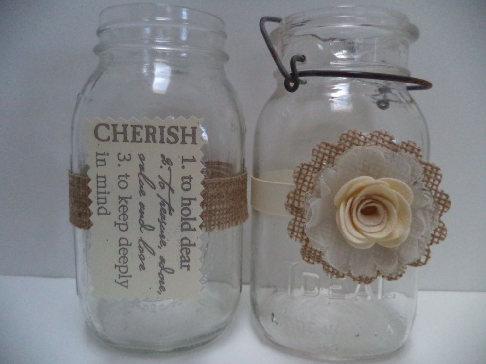 10 burlap ivory bridal wedding decorations for mason jars rustic 10 burlap ivory bridal wedding decorations for mason jars rustic primitive in centerpieces table junglespirit Image collections