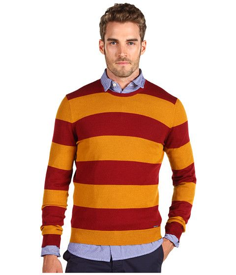 DSQUARED2 Horizontal Stripes Crewneck Sweater