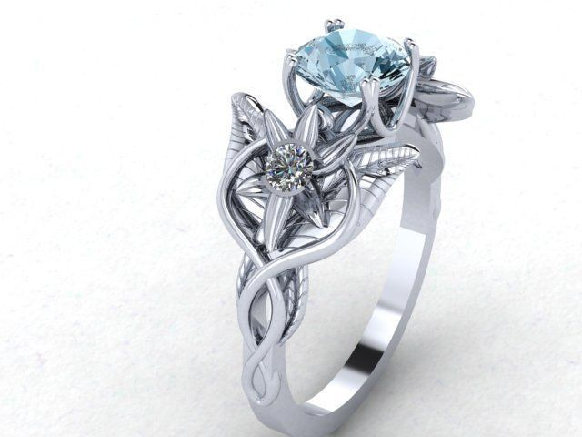 custom made lord of the rings inspired evenstar ring - Lord Of The Rings Wedding Ring