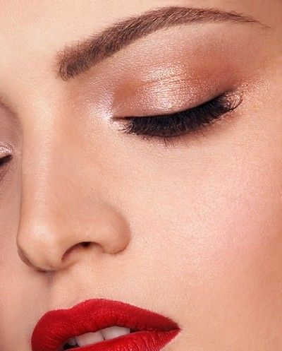 Divine Metallic Neutral Rose Gold Shadow For The Eye And Matte