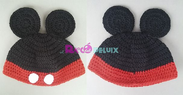 Gorro Mickey de ganchillo