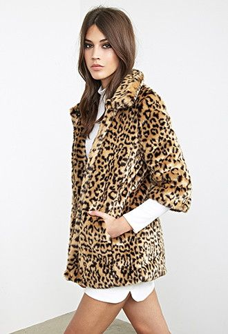 6c36445db535 Faux Fur Cheetah Coat | Forever 21 - 2000101258 | Animal Attraction ...