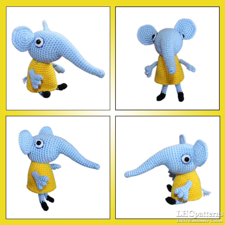 Emily Elephant Crochet PDF Pattern