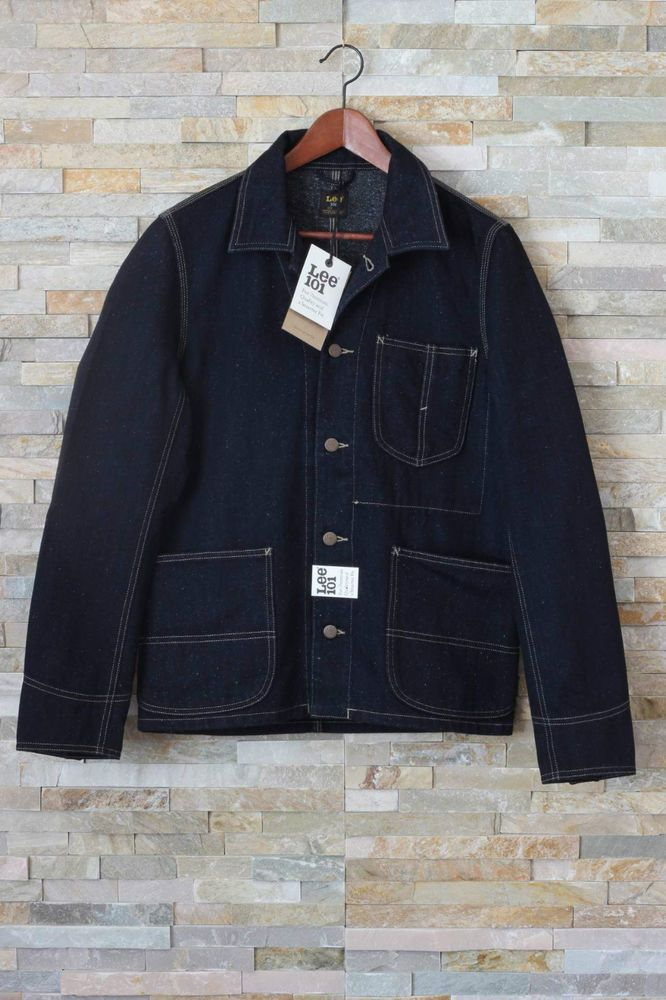 Details about LEE 101 OVERALL Jacket Blazzer Denim Selvage Canvas ...