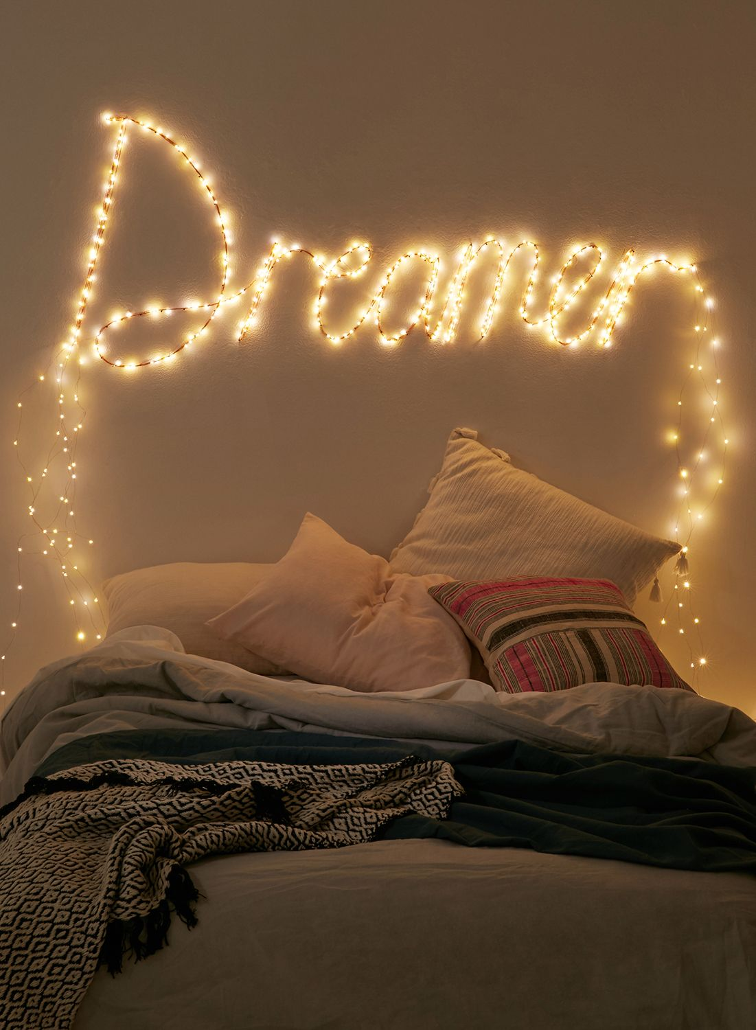 Cosy bedroom fairy lights - Extra Long Firefly String Lights