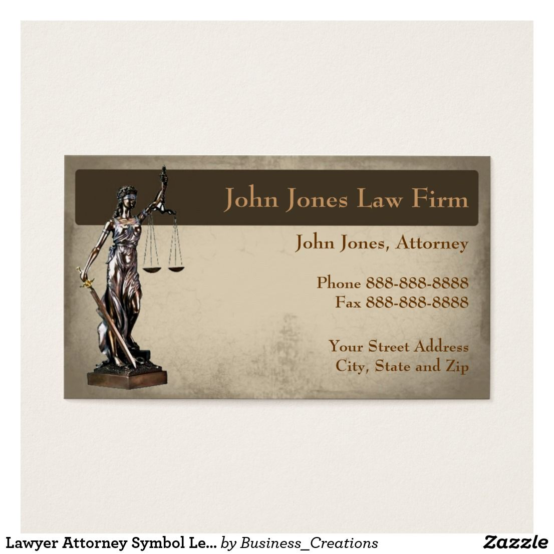 Lawyer Attorney Symbol Legal Business Card | Legal business and ...