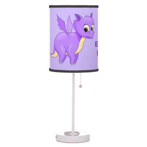 Cute Purple Flying Baby Dragon Table Lamp