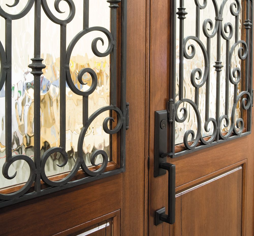 Old World Entry Door Wrought Iron Grilles Pella Photo Gallery