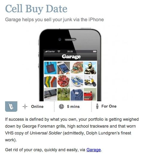 Garage Iphone App Instant E Commerce For You To Buy And Sell From Your Pocket With Images Iphone Apps Start Up