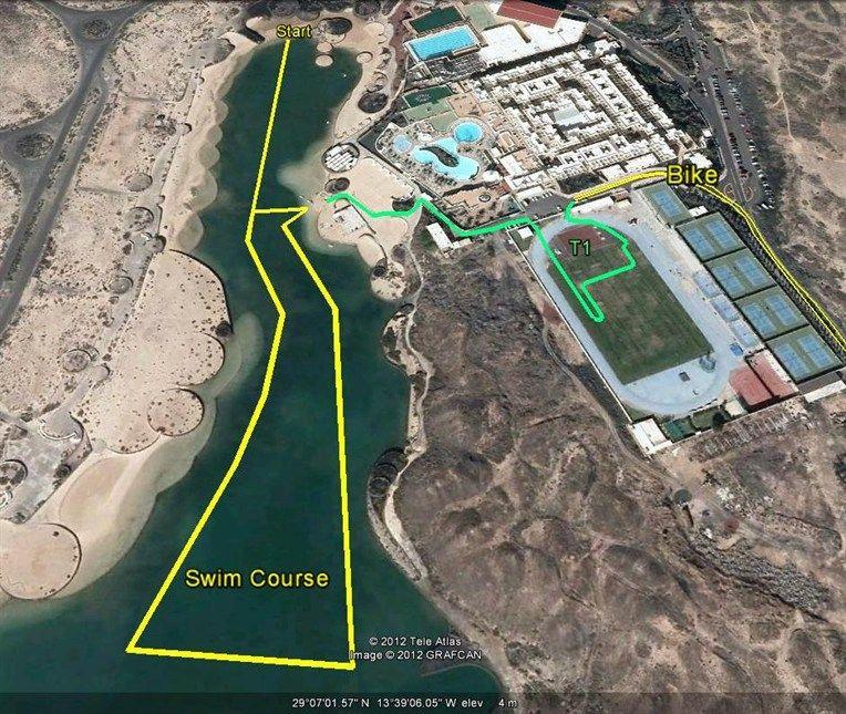 ironman 70.3 lanzarote swim course