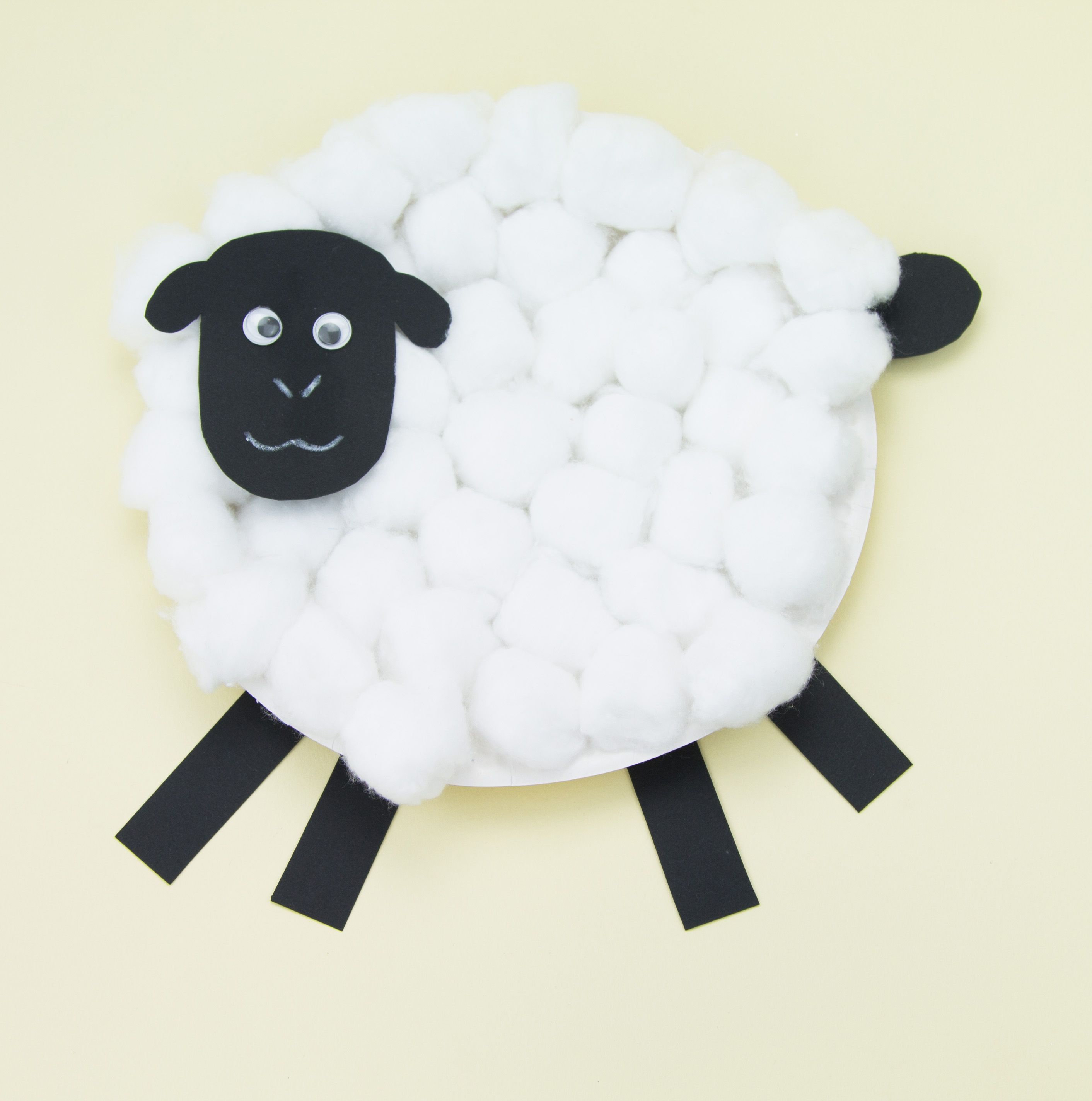 Paper Plate Sheep Craft - this cute sheep is a brilliant craft for ... for Paper Plate Sheep Template  111bof