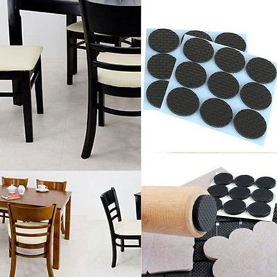 Round Square Self Adhesive Floor Protectors Furniture Rubber Pads Chair Sofa  Table New Furniture Pads #
