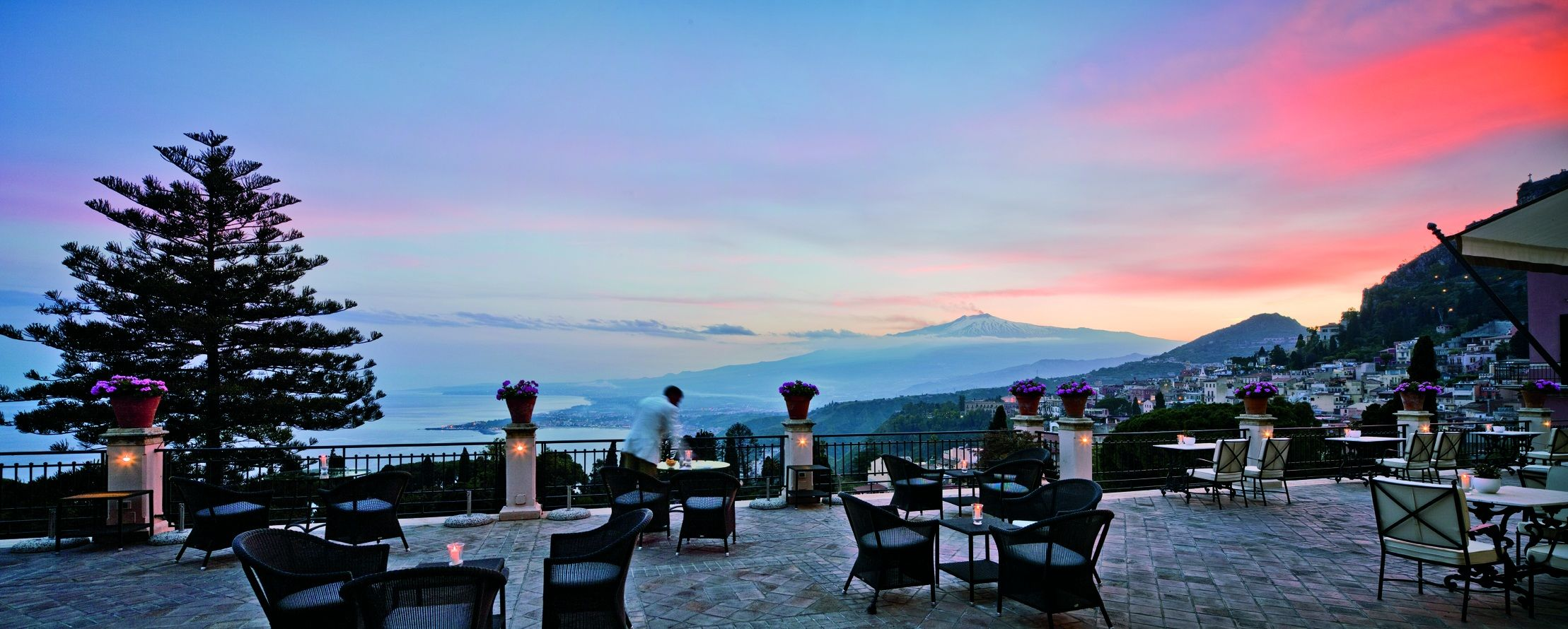 Grand Hotel Timeo Sicily High In The Hills Of Taormina With Views S Volcanic Coastline And Mount Etna Is Surrounded By Ancient