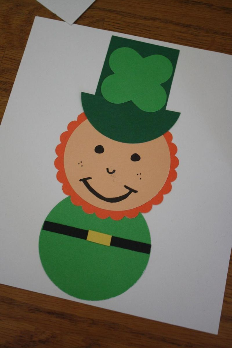 Easy Leprechaun Craft | Shapes, Crafts and Saints